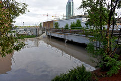 Inundação 2013 de Calgary Fotos de Stock Royalty Free
