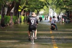 Inundação de capital de Tailândia. Foto de Stock