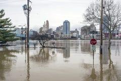 Inundação 2018 de Cincinnati Foto de Stock