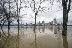 Inundação 2018 de Cincinnati Fotos de Stock Royalty Free