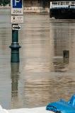 Inundação 2013 de Danube River, Budapest, Hungria Imagens de Stock