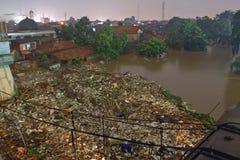 Inundação de Jakarta imagens de stock