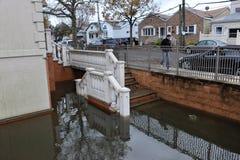 Inundação de Seriouse nos edifícios Imagens de Stock Royalty Free