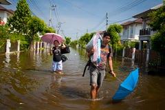 Inundação de Tailândia fotografia de stock