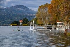Inundação do lago fotos de stock