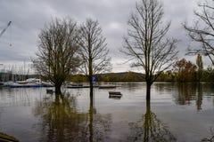 Inundação do lago imagem de stock