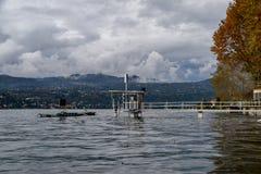 Inundação do lago foto de stock