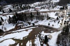 Inundação do rio de Cowlitz, estado de Washington Imagens de Stock