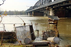 Inundação do rio Po Fotografia de Stock Royalty Free