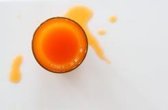 Inundação do sumo de laranja Foto de Stock