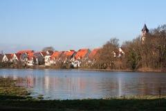 Inundação em Alemanha fotografia de stock