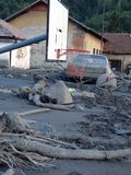 Inundação em Bósnia Imagens de Stock