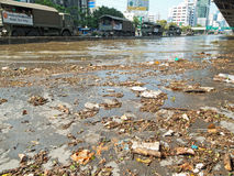 Inundação em Banguecoque, Tailândia Fotos de Stock Royalty Free