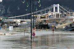 Inundação em Budapest fotos de stock royalty free