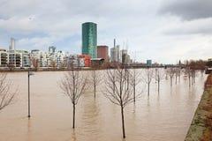Inundação em Francoforte Fotografia de Stock Royalty Free