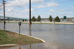 Inundação em Fredericton Fotos de Stock Royalty Free