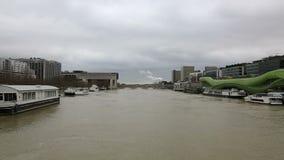 inundação em Paris video estoque