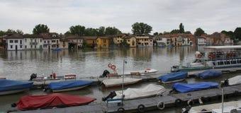 Inundação em Pavia (Borgo Ticino) fotografia de stock