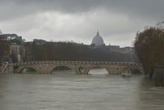 Inundação em Roma fotos de stock