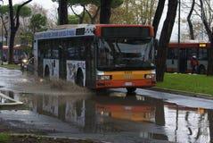Inundação em Roma foto de stock
