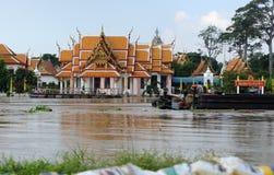 Inundação em Tailândia fotografia de stock royalty free