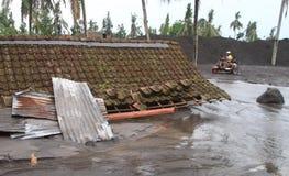 Inundação fria da lava Imagens de Stock Royalty Free