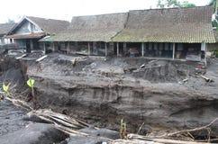 Inundação fria da lava Imagem de Stock