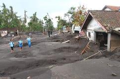 Inundação fria da lava Imagens de Stock