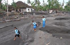 Inundação fria da lava Fotos de Stock Royalty Free