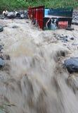Inundação fria da lava Foto de Stock Royalty Free