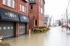Inundação Luna Pier Michigan Imagens de Stock Royalty Free