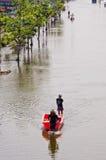 A inundação a mais má em Nakhon Pathom, Tailândia Fotografia de Stock