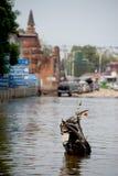Inundação mega em Tailândia. Foto de Stock