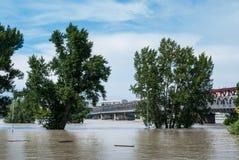 Inundação na cidade Fotografia de Stock Royalty Free