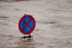 Inundação na inundação após a chuva fotografia de stock royalty free