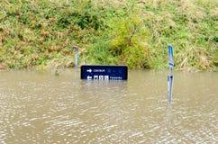 Inundação na Suécia Foto de Stock