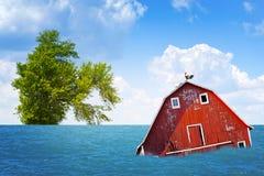 Inundação no campo americano foto de stock royalty free