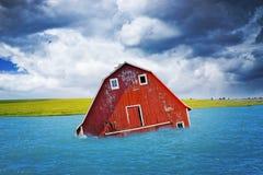 Inundação no campo americano fotografia de stock royalty free