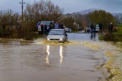 Inundação no Transcarpathia Imagem de Stock Royalty Free