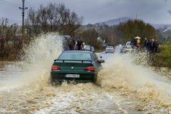 Inundação no Transcarpathia Foto de Stock