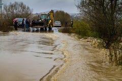 Inundação no Transcarpathia Foto de Stock Royalty Free