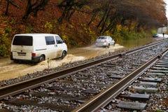 Inundação no Transcarpathia Fotografia de Stock