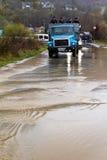 Inundação no Transcarpathia Fotografia de Stock Royalty Free