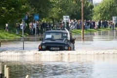 Inundação no Wroclaw, Kozanow 2010 Foto de Stock