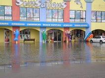 Inundação pesada de florida da praia da Cidade do Panamá foto de stock