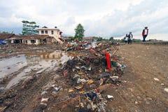 Inundação repentina do desastre de Indonésia - Garut 036 Foto de Stock