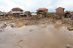Inundação repentina do desastre de Indonésia - Garut 026 Foto de Stock