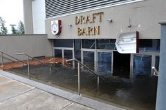 Inundação séria nos edifícios Fotos de Stock Royalty Free