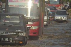 INUNDAÇÃO Semarang Foto de Stock