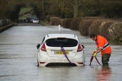 2014 inundações BRITÂNICAS Fotografia de Stock